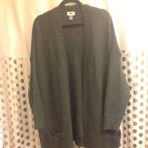 Old Navy Olive Green Long Cardigan 3X plus size